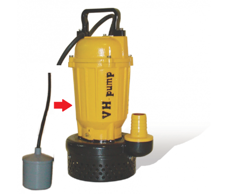 """UO-212LA Bomba sumergible con electroniveles de flotación tipo pera, Marca VH-Pump, 2"""", 3 Fases, 220 Volts, 1 Hp"""