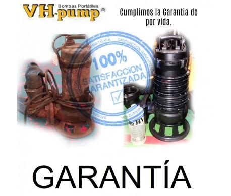 GARANTÍA de por vida, a Bombas VH-Pump, por Industrias Lopraiza SA de CV