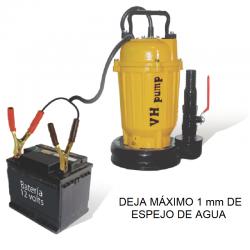"""VH-1225LACDS Bomba sumergible para batería automotriz 1"""", Corriente Directa, 12 VCD, 250 Watts"""